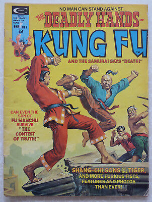 """The Deadly Hands of Kung Fu Issue #9 1975 - and the samurai says """"Death"""""""