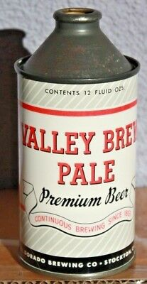 Valley Brew Pale Stockton, CA Cone Top Beer Can High Profile El Dorado Brewing