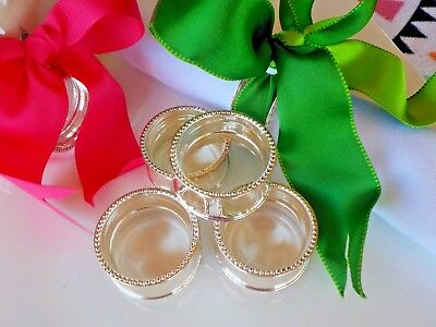 Set of 6 Silver Plated Napkins Rings Great