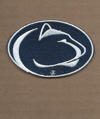 New 2 1/4 X 3 3/8 Inch Penn State Nittany Lions Iron On Patch Free Shipping