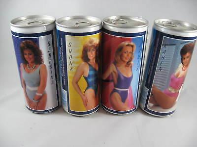 4 Tennent's Beer Cans - 440ml - 10th Lovelies set - Bathing Suits - 1986-87