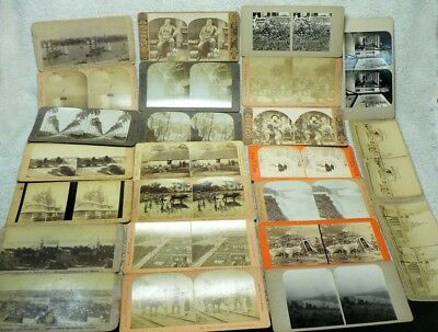 Lot of 24 Vintage/Antique StereoView Stereoscope Cards Late 1800's Early 1900's