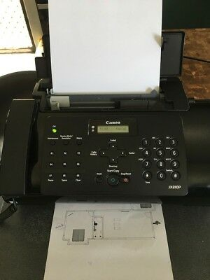 USED Canon FAX-JX210P Plain Paper Fax Printer Phone Answering Machine No3303B002