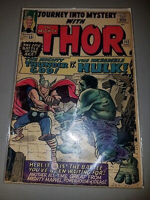 JOURNEY into MYSTERY # 112 THOR vs HULK 1964 Silver Age G/VG Comic Stan Lee
