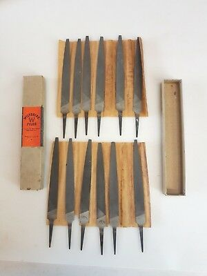 "1 dozen BOXED MINT 6"" VINTAGE AUSTRALIAN WILTSHIRE BASTARD FILES ANTIQUE TOOLS"