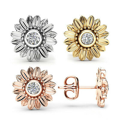 Gorgeous Stud Earrings for Women 925 Silver,Rose Gold,Gold White Sapphire A Pair
