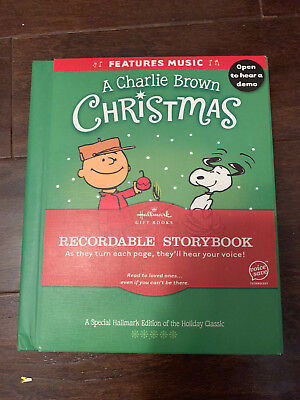HALLMARK GIFT BOOKS A Charlie Brown Christmas Recordable Storybook w/Music New
