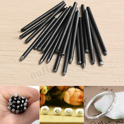 20PCS Assorted Punches For Jewelry Flower Punch Stamp Steel Stamp Punch Tool !
