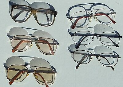 Men's Lot of 6 Pairs VINTAGE Eyeglasses - Not Perfect