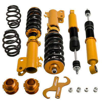 Coilovers Shock Struts Kit for Toyota Yaris 07-14 CoilOver Suspension Adj Height