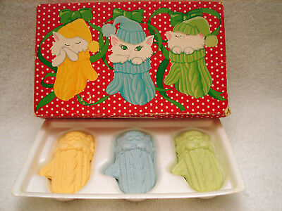 New Vintage Avon Furry, Purry, Scurry 3 Children's Soaps