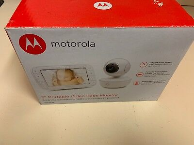 "Motorola 5"" Portable Video Baby Monitor MBP36XL BRAND NEW"
