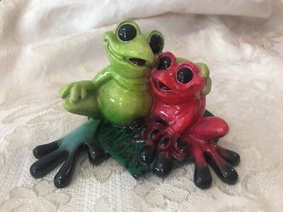 "Kittys Critters Collectible  ""TOGETHER"" Frog  by Kitty Cantrell - Retired"