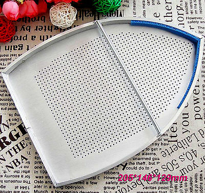 1pc new Teflon Aluminum Made Industrial Iron Plate Cover shoe 205*146mm #610