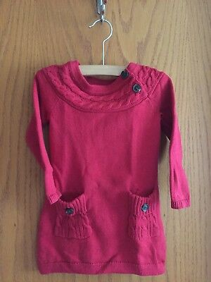 dc6730d84567 NWT BABY GAP Girls Size 12 18 24 Months Red Cable Knit Ruffle ...