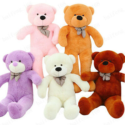 Large Teddy Bear Giant Kids Big Soft Plush Toys 80/100/120/140cm UK Stock