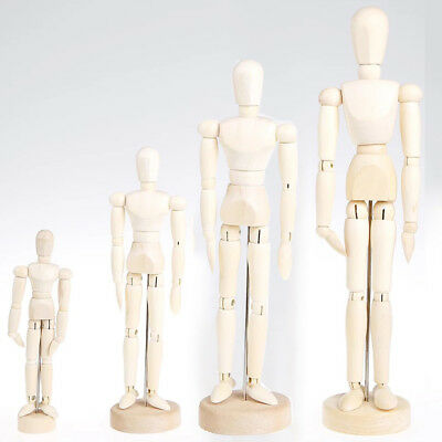 5.5inch Wood Unisex Art Mannequin Wooden Sectioned Posable Human Figure Body