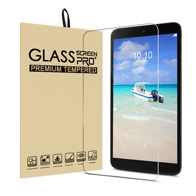 """For Alcatel 3T 8.0"""" Tablet/A30 8.0"""" HD Clear Tempered Glass Screen Protectors"""