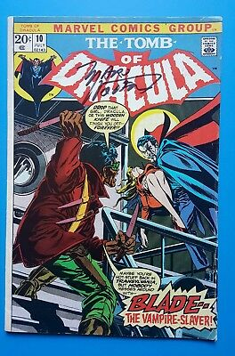 Tomb Of Dracula #10 1st Blade, The Vampire Slayer signed Marvin Wolfman