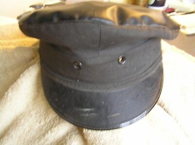 Railway train drivers hat made by Sanders & Brightman Luton size 7 BR