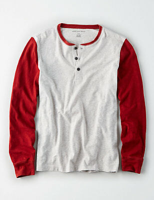 eddd5889 Shirts & Hemden NWT AEO American Eagle Long Sleeve Thermal Henley Tee 4  Colors M or L