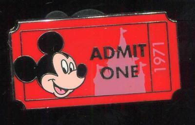 WDW Admission Ticket Admit One Mickey Mouse 1971 PWP Disney Pin 92327