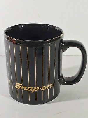 Vintage Snap On Mug Coffee Cup Coloroll Kilncraft England Collectible Black Gold