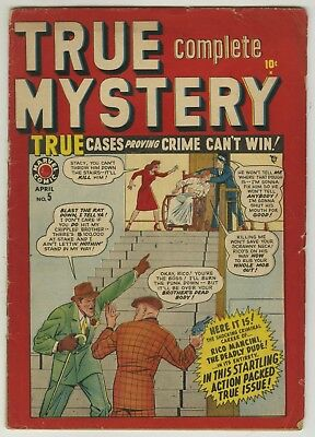 True Complete Mystery #5 (First Issue) 1949 VG Marvel Crime