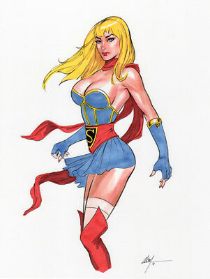Supergirl (Bombshell)! Original Art by MC Wyman