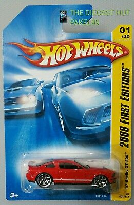 Hot Wheels 2008 '07 Shelby GT-500 red #001