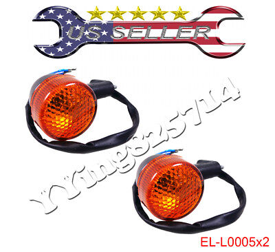 2x Rear Turn Signal Lights Light gy6 50cc 150cc Moped Scooter