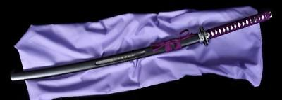 Katana Japanese Sword with PURPLE Hilt Wrapping - FREE SHIPPING & TRACKING