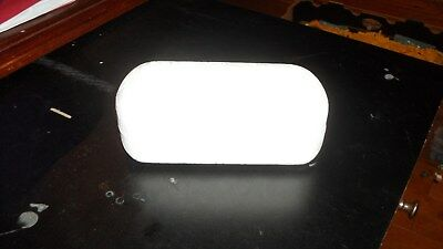 White OAKLEY Large Leather Hard Sunglases Case Clam Shell RARE