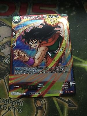 DBS Dragon Ball Super Game EVERYBODY'S PAL YAMCHA GP-077 PR Foil Promo Card