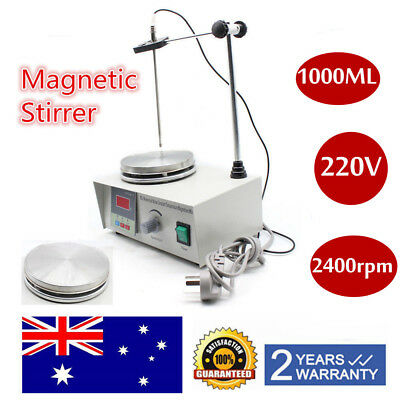 Magnetic Stirrer Mixer W/Hot Plate Heating Digital Electric Stir Bar 220V PRO AU