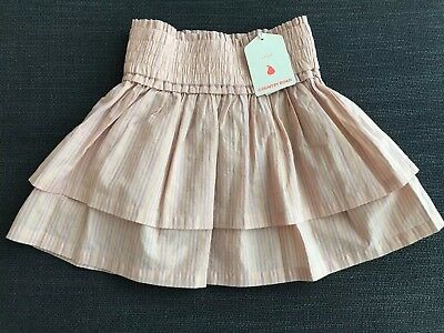 Country Road Metallic Stripe Skirt Size 7 Years RRP$49.95