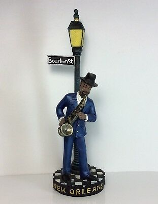 Saxophone Player Jazz Bourbon Street Figurine