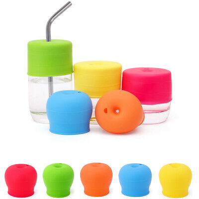 Universal Silicone Spill-Proof Sippy Cup Straw Lids Glassware Lid Hot Sale AU NE