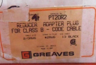 GREAVES PT20R2 REDUCER ADAPTER PLUG FOR CLASS B - NEW 2/0 to 2 wire