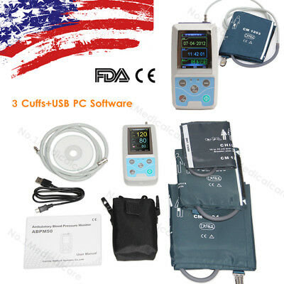Ambulatory Blood Pressure Monitor, Child+Adult+Large Adult 3 Cuffs, USB PC SW
