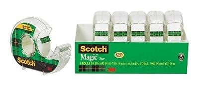 Scotch Magic Tape and Refillable Dispenser 3/4 x 650 Inches 6-Pack (6122) Best