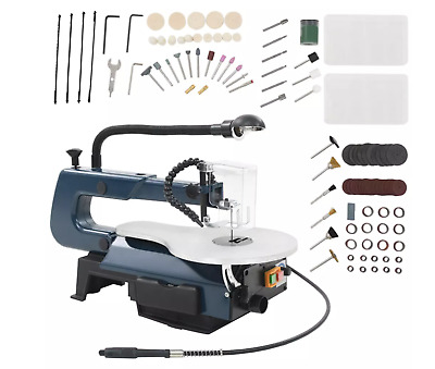 Powerful Large 108 Piece Electric Scroll Saw Set W/ Light For Plastic Wood Metal