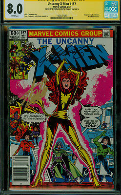CGC 8.0 SS The Uncanny X-men 157 Signed by Stan Lee & Chris Claremont