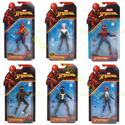 "New Marvel 6"" Spider Man Action Figure Amazing Spiderman Custom Homecoming"