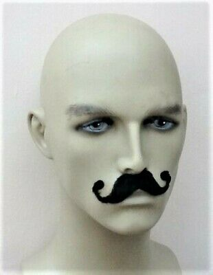 Black Fancy Dress Self Adhesive Pirate Style  Moustache. Next Day Disp