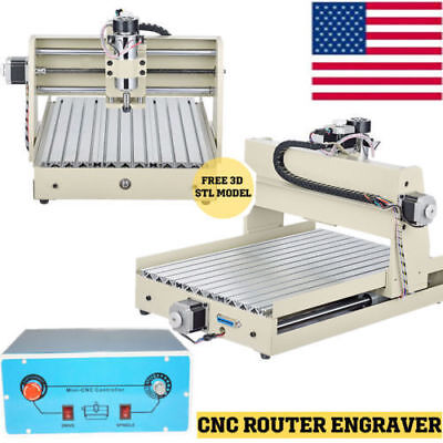 3 Axis 3040 CNC Router Engraver 400W Engraving Milling Cutting Drilling Machine