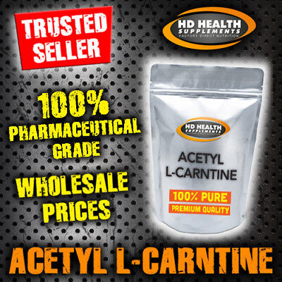 500g PURE ACETYL L CARNITINE POWDER | PHARMACEUTICAL GRADE ALCAR WEIGHT-LOSS