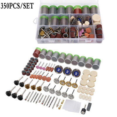 350PCS Electric Die Grinder Rotary Tool Set Accessory Polisher Carving Carbide