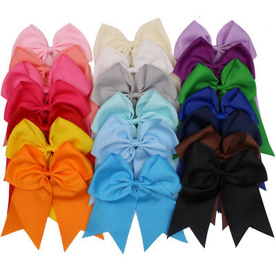 20Pcs Softball Cheer Bows Ponytail Holder Jumbo Goody Hair Bows Elastic Hair Tie