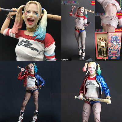 "Crazy Toys DC Comic Harley Quinn Real Clothes 12"" 6"" Action Figure Model Statue"